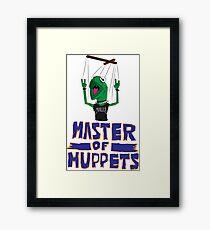 Master Of Muppets Framed Print