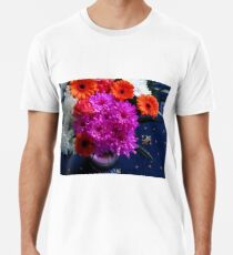 Lebendige rosa Blumen für Muttertag Premium T-Shirt