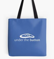 Under the Button Classic White Logo Tote Bag