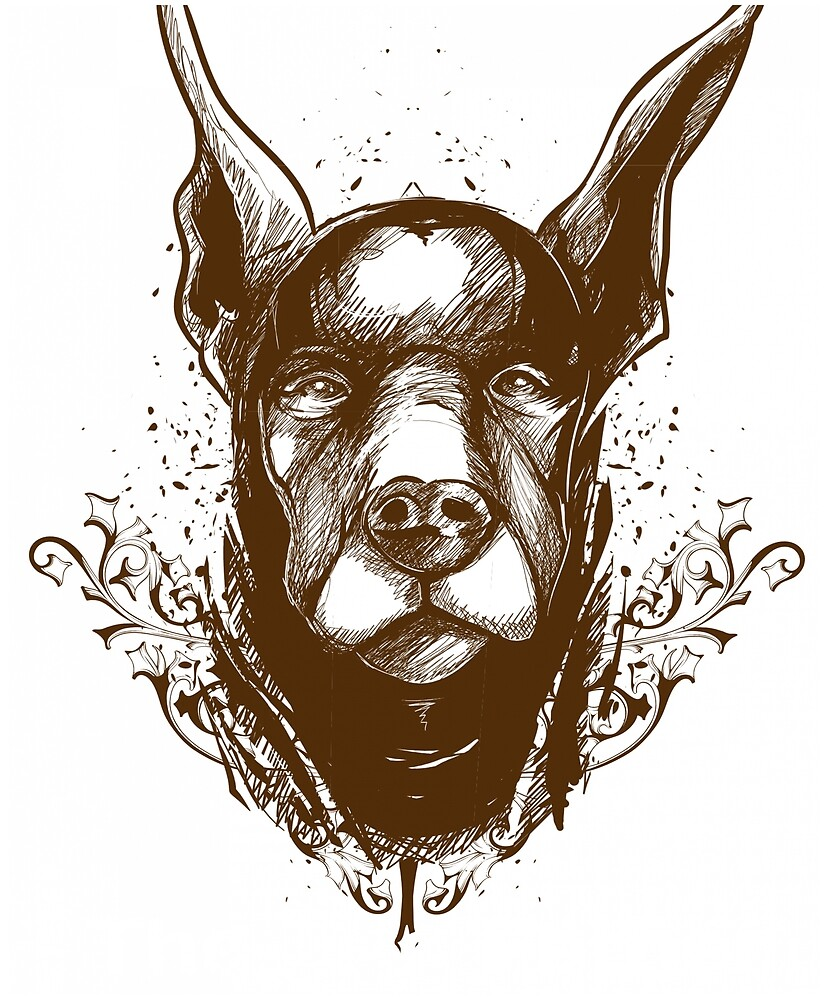 The Dogfather Doberman dog dobermann pin father t shirts  Pinchers Pictures by tengamerx