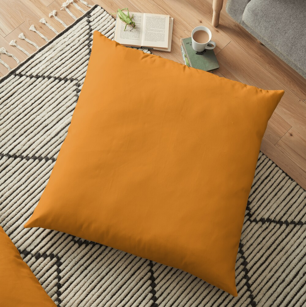 Dark Cheddar 15-1150 TCX | Pantone | Color Trends | New York | Fall Winter 2019 2020 | Solid Colors | Fashion Colors | Floor Pillow