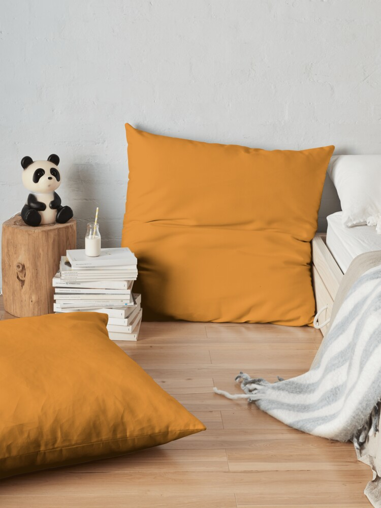 Alternate view of Dark Cheddar 15-1150 TCX | Pantone | Color Trends | New York | Fall Winter 2019 2020 | Solid Colors | Fashion Colors | Floor Pillow