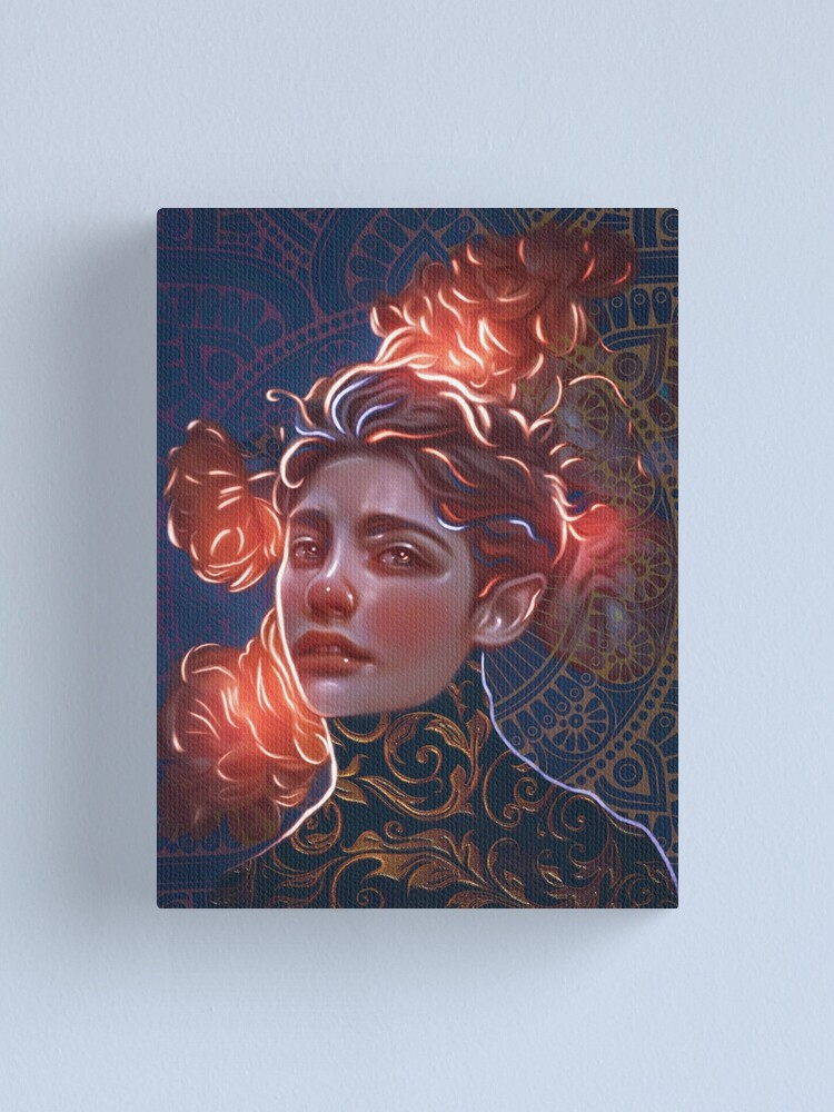 Alternate view of Magical flowers Canvas Print