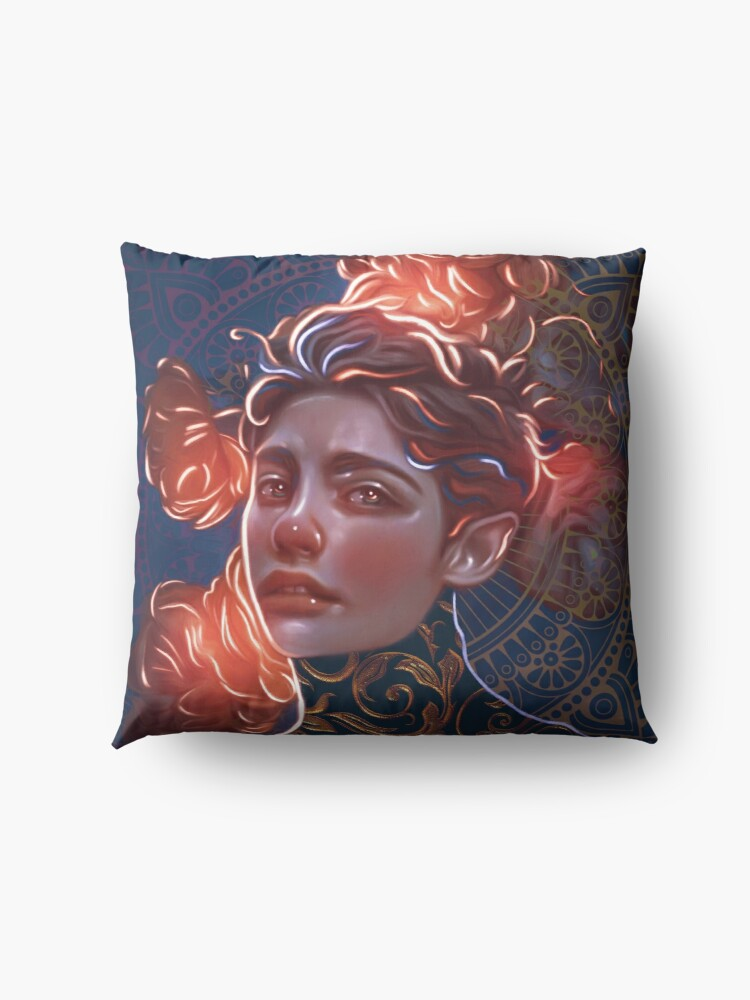 Alternate view of Magical flowers Floor Pillow
