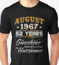 August 1967 Birthday Gifts - August 1967 Celebration Gifts - Awesome Since August 1967 Unisex T-Shirt