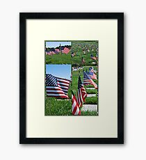 Memorial Flags Framed Print