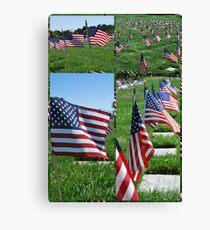 Memorial Flags Canvas Print