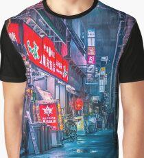 Heavy Rain Over Neo Tokyo Graphic T-Shirt