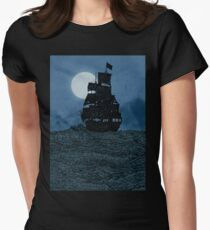 Sailing Under The Moon Women's Fitted T-Shirt