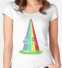 Rainbow Morty Fitted Scoop T-Shirt