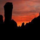 Chimney Rock Sunset by Mitchell Tillison