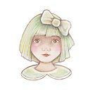 cute whimsical little girl  by trudette