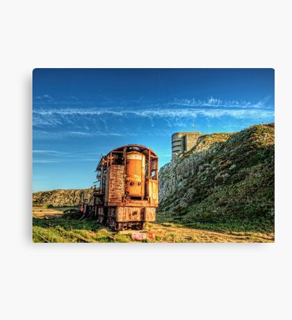 The Crane and the Odeon - Alderney Canvas Print