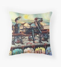 johnny's return - m. a. weisse Throw Pillow