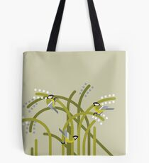 Three Great Tits vector illustration Tote Bag
