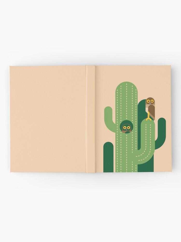 Alternative Ansicht von Graben von Eulen und Kakteen Vektor-Illustration Notizbuch