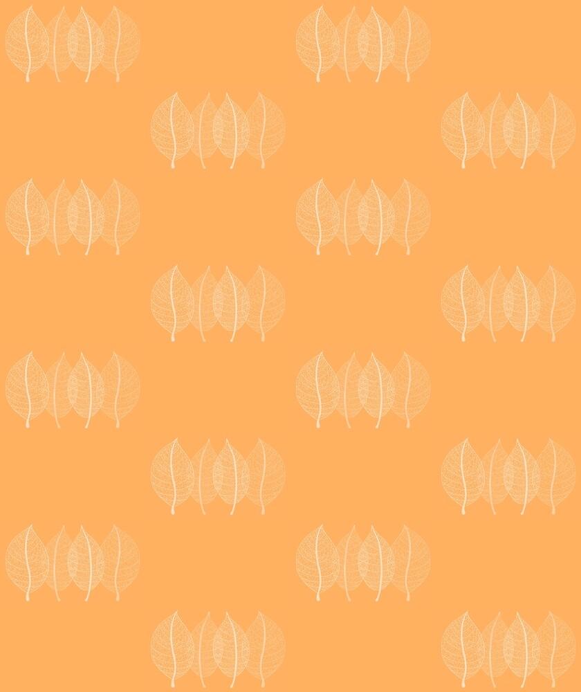 Orange Leaf Pattern by plantita