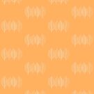 Orange Leaf Pattern by plantita