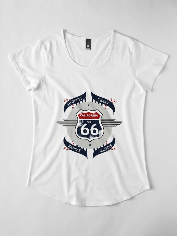 Alternate view of Route 66 my new version Premium Scoop T-Shirt