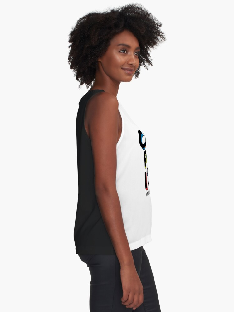 Alternate view of Can't Pass It On - U Equals U Sleeveless Top