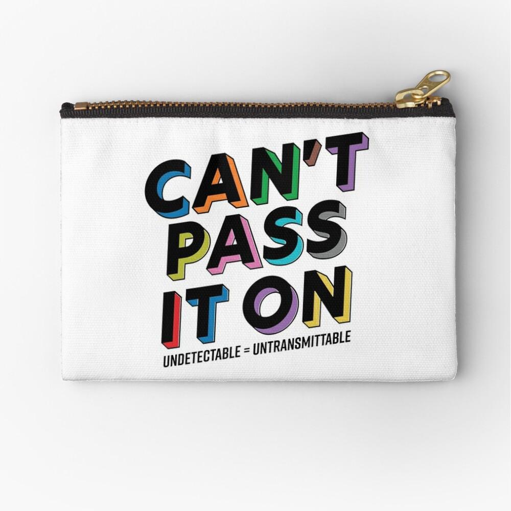 Can't Pass It On - U Equals U Zipper Pouch