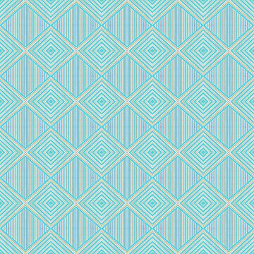 Geometric Pastel Blue Pattern by YakutKeskin