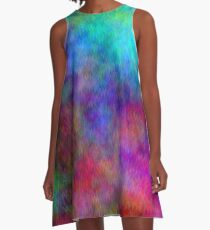 Nebula - Dreamy Psychedelic Space Inspired Art A-Line Dress