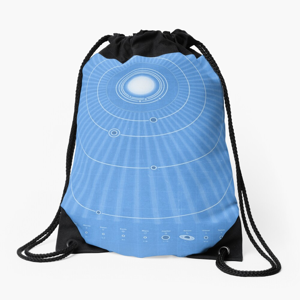 Solar System Cool - portrait Drawstring Bag