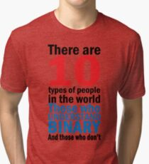 There are 10 types of people  Tri-blend T-Shirt