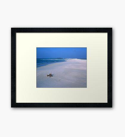 Heavenly Maldives Beach Framed Print