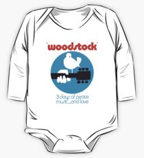 Copy of Woodstock 1969 Peace Love Bird Poster White  Long Sleeve Baby One-Piece
