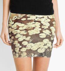 Golden Lily Pads - Art Photography - Nature Decor Mini Skirt