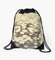 Golden Lily Pads - Art Photography - Nature Decor Drawstring Bag