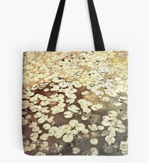 Golden Lily Pads - Art Photography - Nature Decor Tote Bag