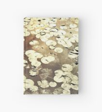 Golden Lily Pads - Art Photography - Nature Decor Hardcover Journal