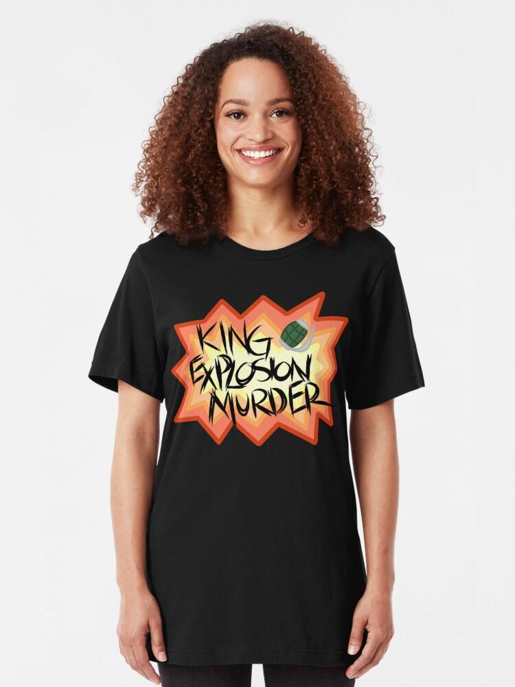 Alternate view of Katsuki Bakugo: King Explosion Murder Slim Fit T-Shirt