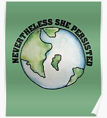 Tag der Erde Trotzdem beharrte sie Poster