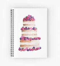 Sweet and tasty cake with berries Spiral Notebook