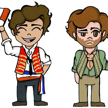 enjolras and grantaire by SavThompson