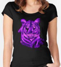 Purple tiger T SHIRT/STICKER Women's Fitted Scoop T-Shirt