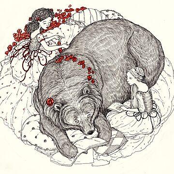 Blancanieves y rosa roja de jessicagadra