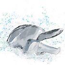 Freudige Delfin-Kunst / Malerei von Clare Walker