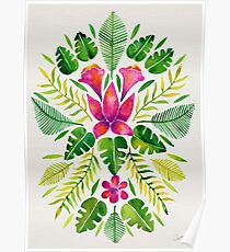 Tropical Symmetry – Pink & Green Poster