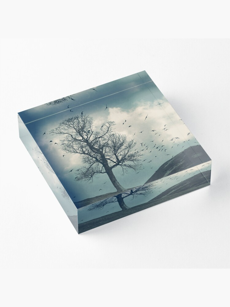 "Alternate view of ""The Flocking Tree"" by Cat Burton Acrylic Block"