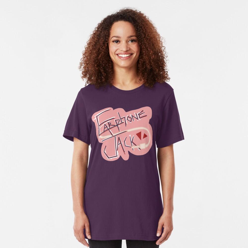Kyoka Jiro: Earphone Jack Slim Fit T-Shirt