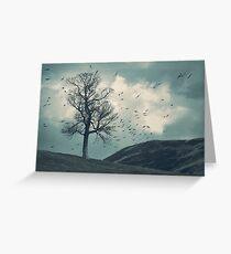 """The Flocking Tree"" by Cat Burton Greeting Card"