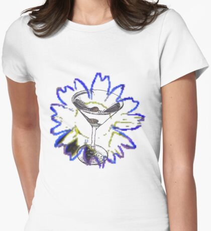 Martini Glass and Sunflower T-Shirt