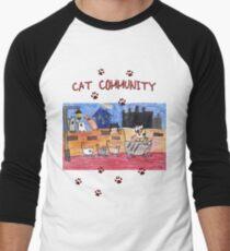 Cat community Men's Baseball ¾ T-Shirt