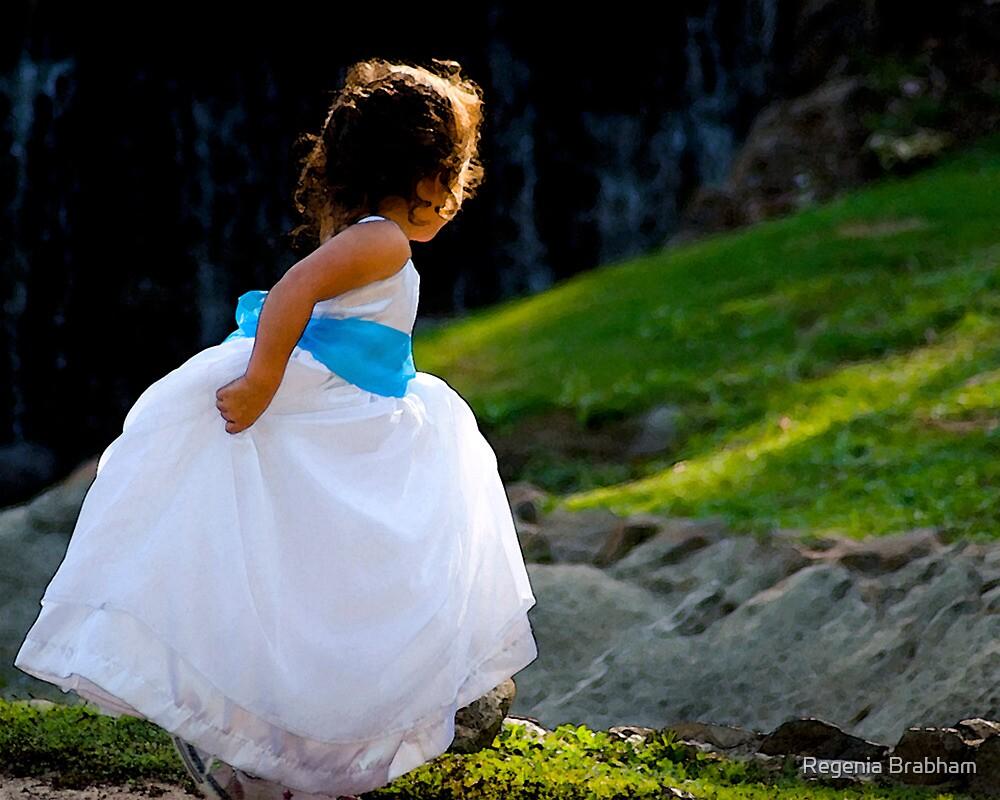 A Playful Flowergirl by Regenia Brabham