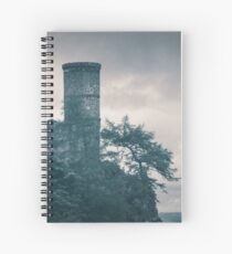 """The Tower Of Kinnoull Hill"" by Cat Burton Spiral Notebook"